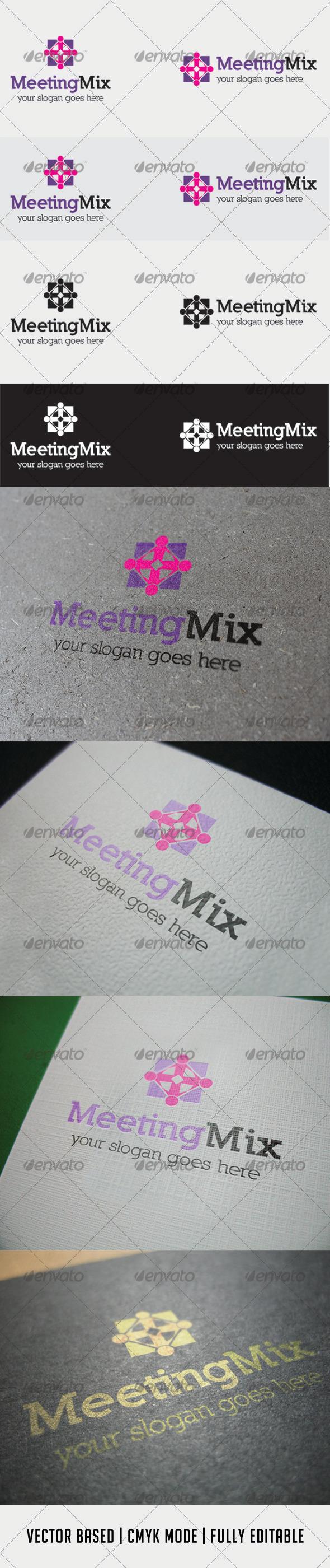GraphicRiver MeetingMix Logo 3419903