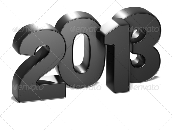 Stock Photography - 3D Year 2013 on white background Photodune 3717118