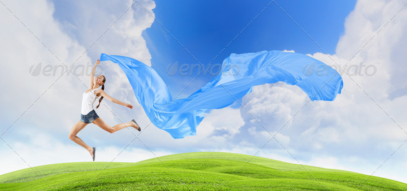 PhotoDune Modern style dancer against blue sky 3717438