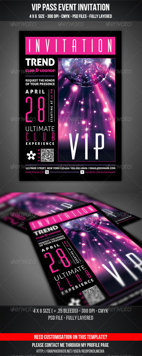 GraphicRiver VIP Club Event Invitation 3667010