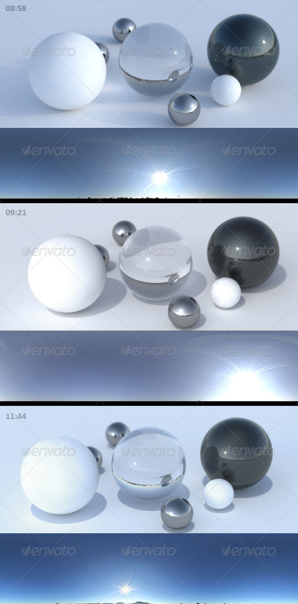 HDRI sky pack 05 - sunny clear blue skies - 3DOcean Item for Sale