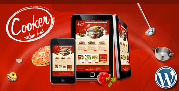Cooker - Online Restaurant, Food Store - WooCommerce eCommerce