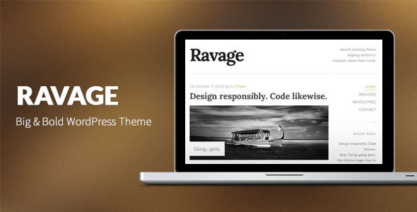 Ravage: Big & Bold WordPress Theme