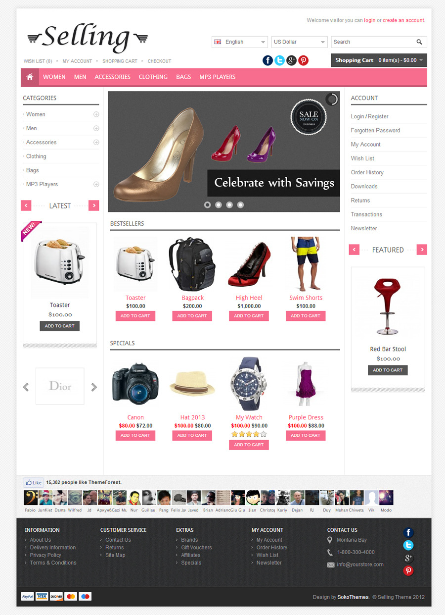 Selling - Multi-Purpose Responsive OpenCart Theme
