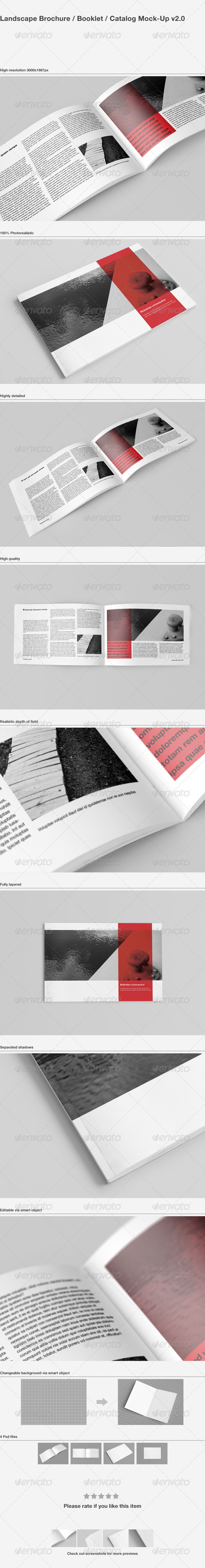 Brochure / Catalog Mock-Up - Brochures Print