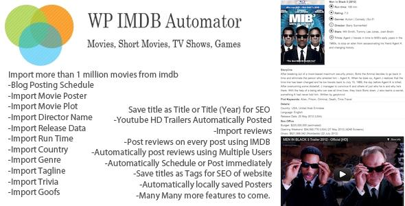 CodeCanyon WP IMDB Automator 3717978