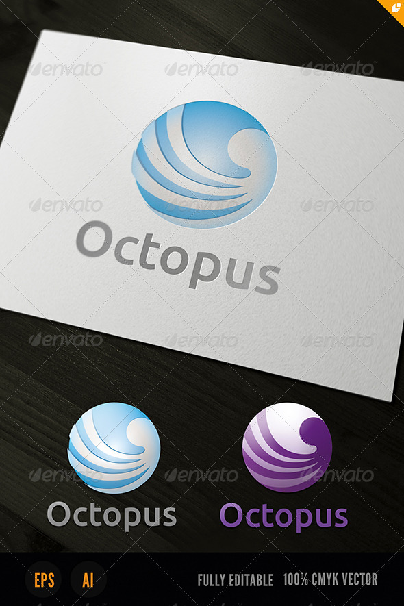GraphicRiver Octopus Logo 3718127