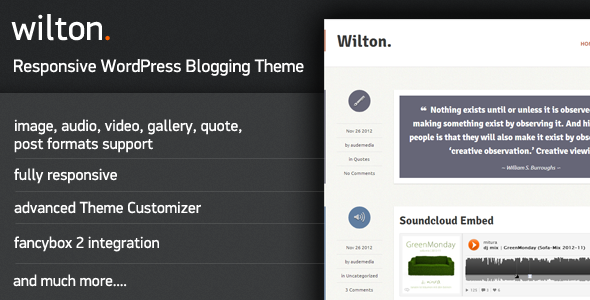 Wilton - Responsive WordPress Blogging Theme