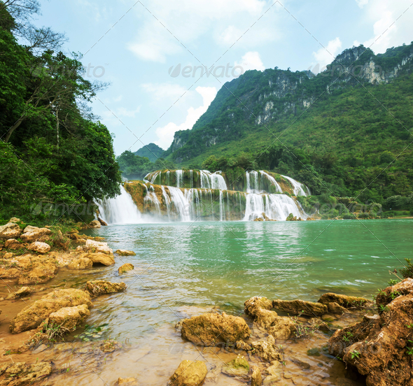 Waterfall in Vietnam - Stock Photo - Images