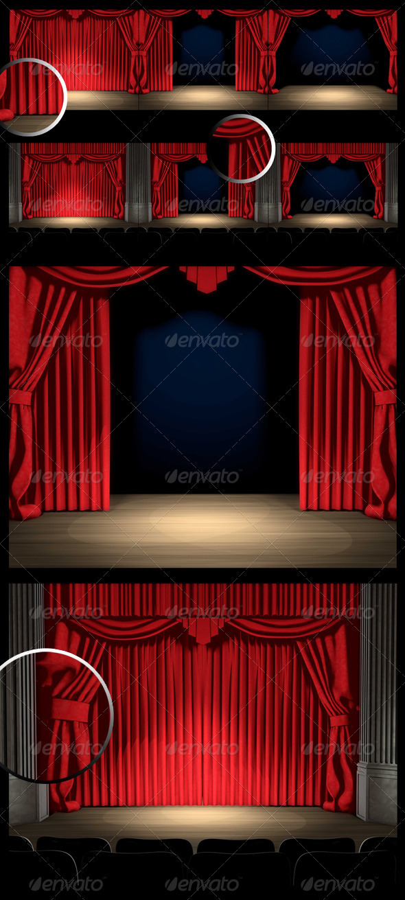 GraphicRiver Stage with Curtain 3718796