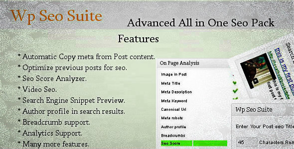CodeCanyon wp seo suite plugin 3713529