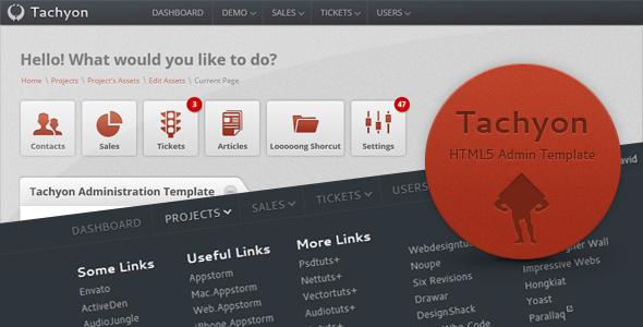 ThemeForest Tachyon HTML5 Admin Template 398227