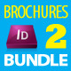 Brochures Bundle 2 InDesign template - GraphicRiver Item for Sale