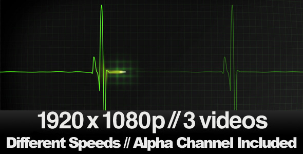[VideoHive 336291] 3 EKG Heatbeat Display Monitor Videos | Motion Graphics