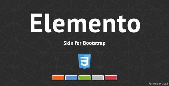 CodeCanyon Elemento Bootstrap Skin 3720172