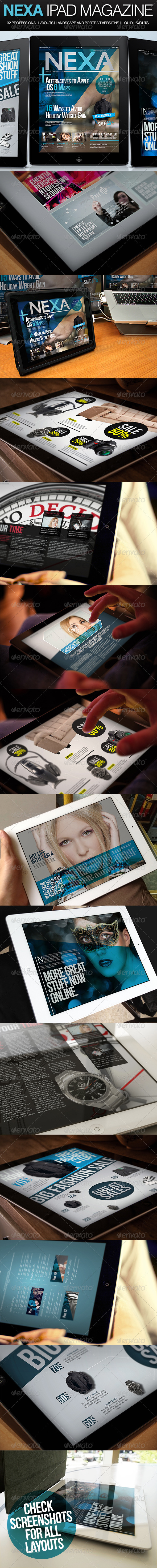 Nexa iPad Magazine - Magazines Print Templates