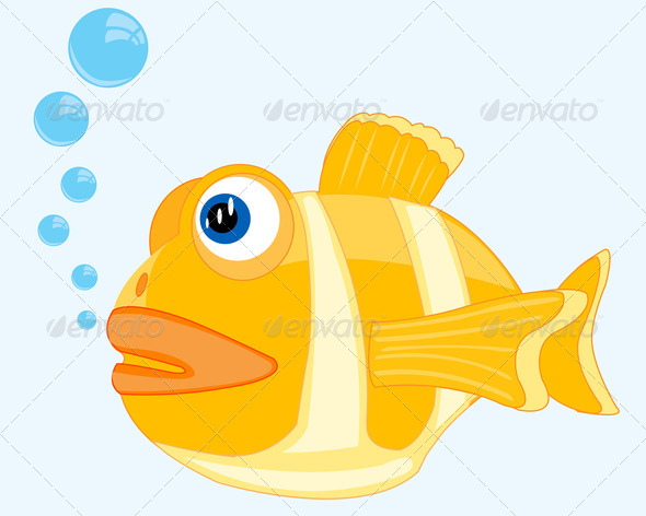 PhotoDune Illustration of the beautiful tropical fish seaborne 3720438