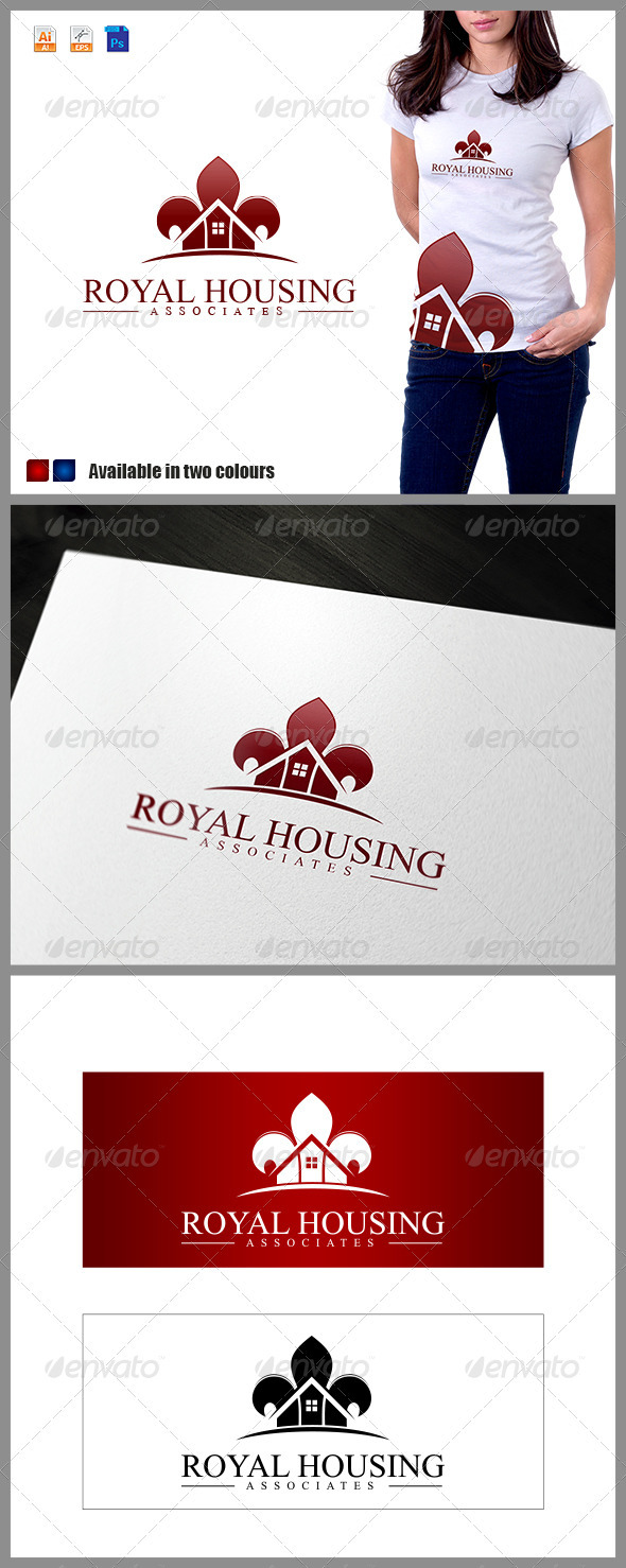 GraphicRiver Royal Housing Associates Logo 3721488