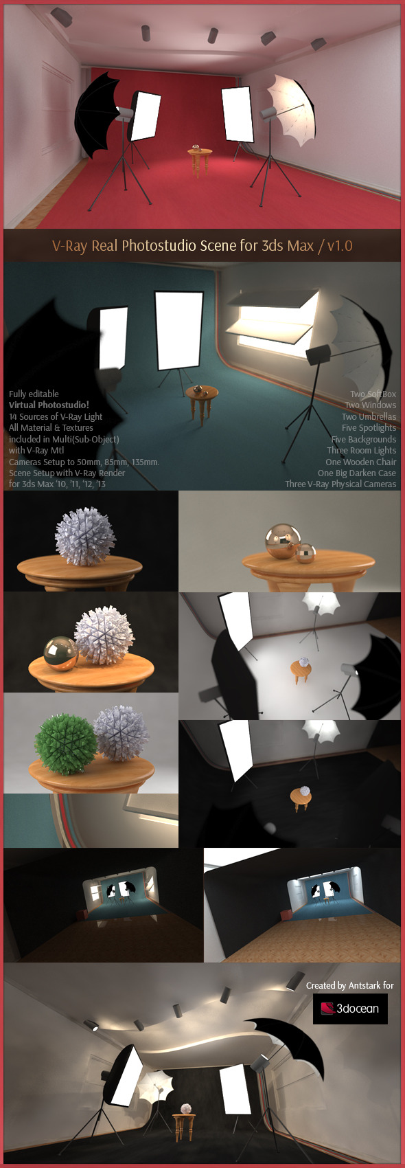 V-Ray Real Photostudio Scene for 3ds Max - 3DOcean Item for Sale