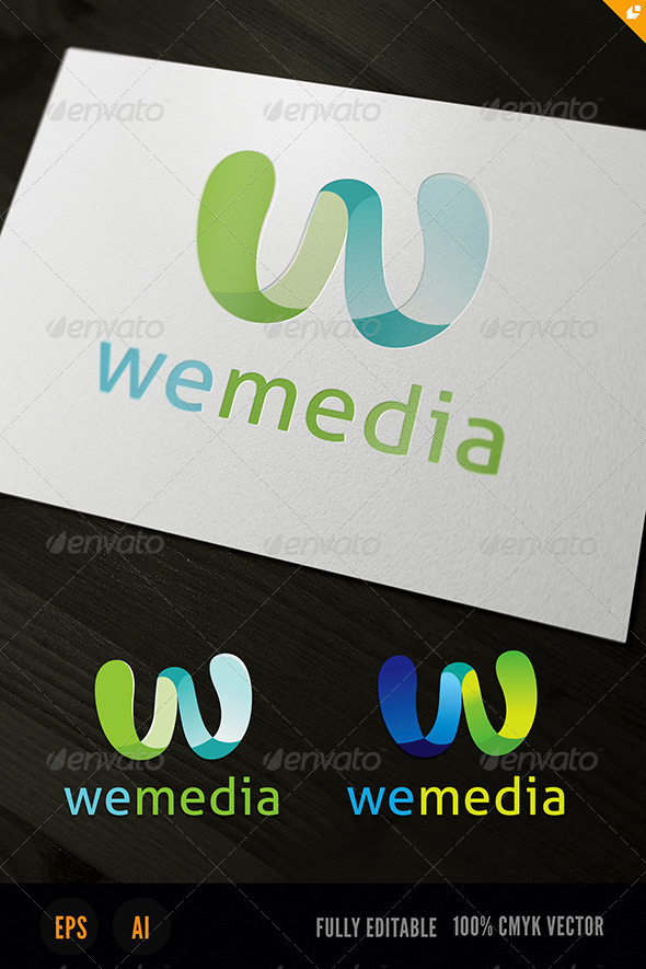 We Media 'W' Logo - Letters Logo Templates