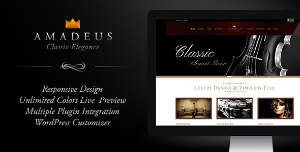 AMADEUS, Classic & Elegant WP Theme - Preview
