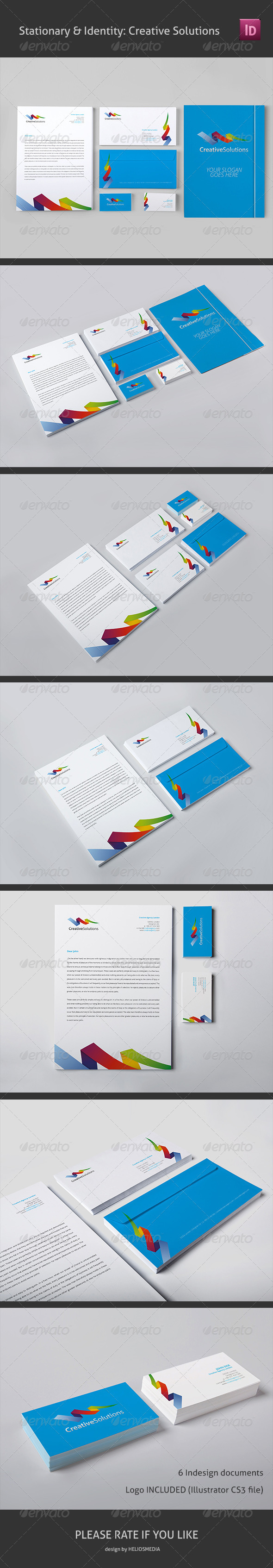Stationary & Identity: Creative Solutions - Stationery Print Templates