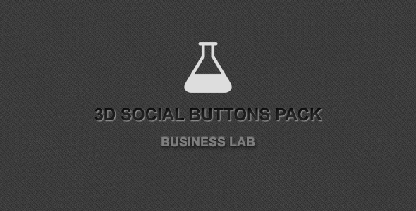 CodeCanyon 3D Social Buttons Pack 3724207