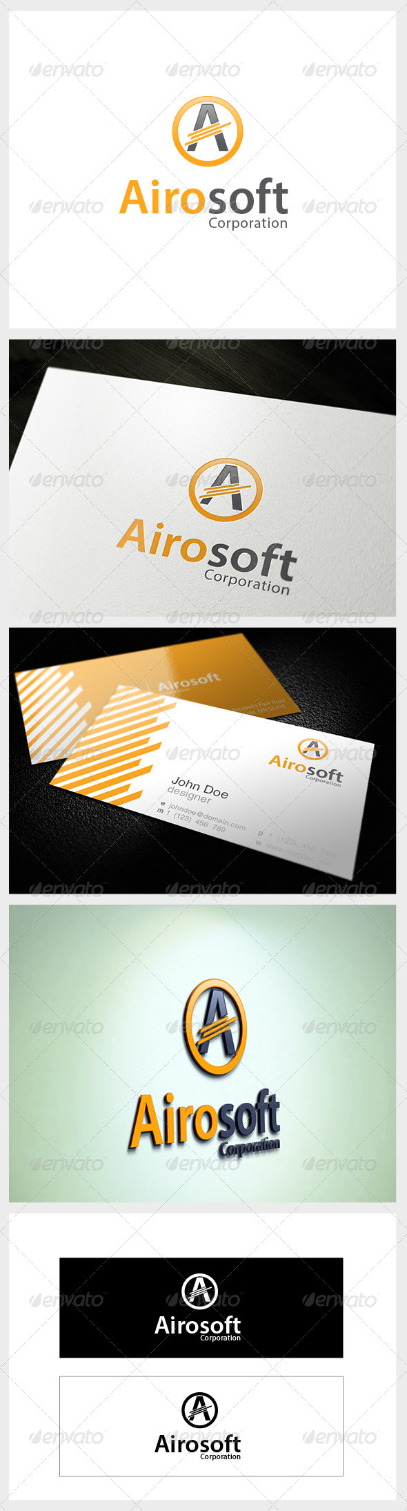 Airosoft Corporation logo - Letters Logo Templates