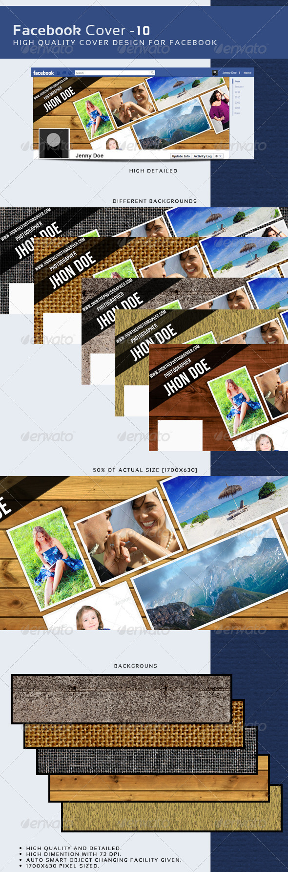 GraphicRiver Facebook Timeline Cover 10 3725121