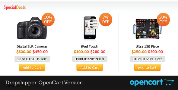 Dropshipper OpenCart Theme - Shopping OpenCart