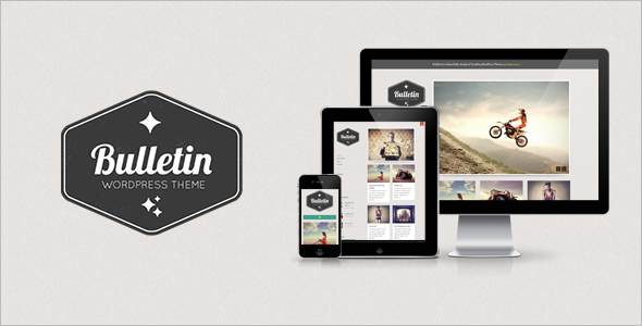 Bulletin Responsive Tumblog WordPress Theme - Blog / Magazine WordPress