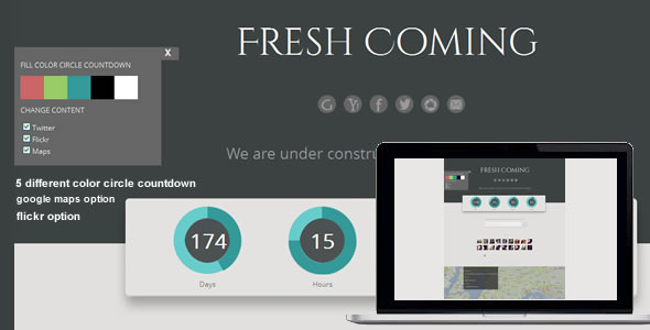 Fresh Coming - Responsive Under Construction Theme