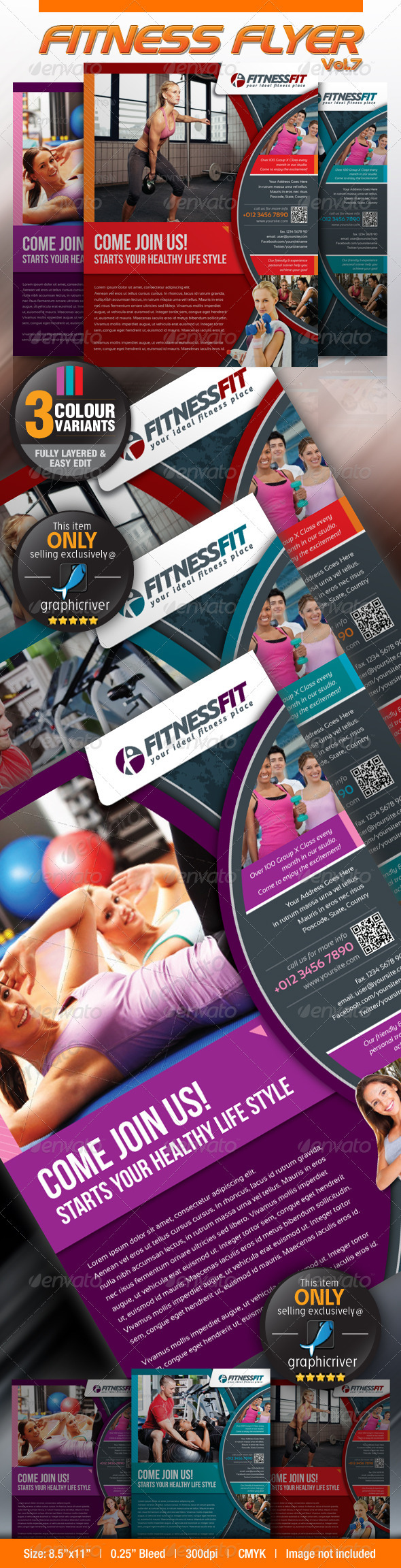 GraphicRiver Fitness Flyer Vol.7 3728118