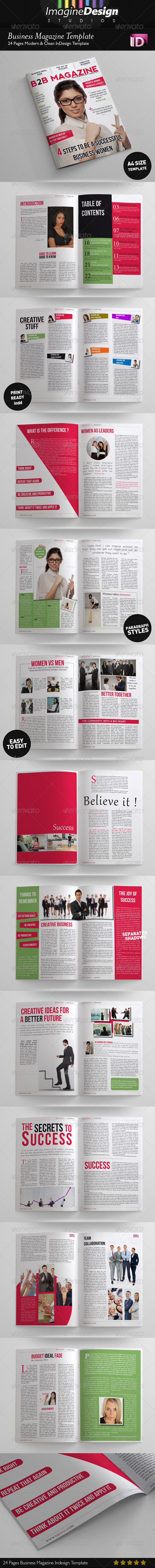 GraphicRiver 24 Pages Business Magazine Template 3728159