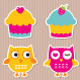 Birthday Party Vector Sticker Set - GraphicRiver Item for Sale