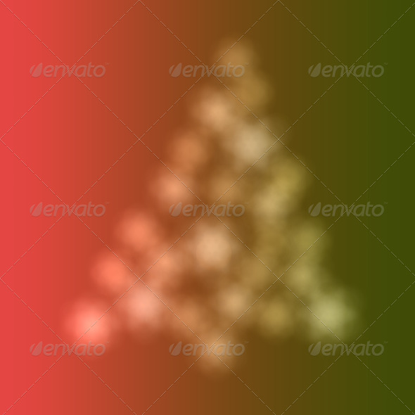 Christmas tree of bokeh - Stock Photo - Images