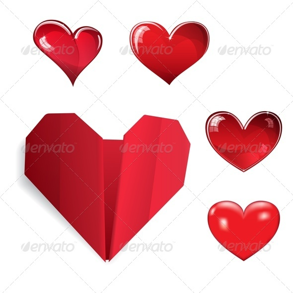 GraphicRiver Set of Hearts 3590838