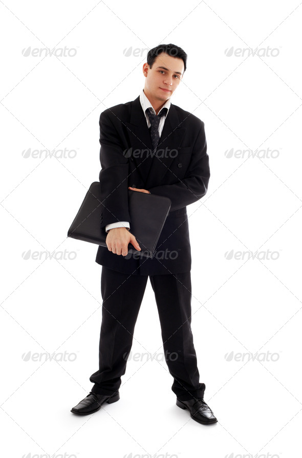businessman with black folder #2 - Stock Photo - Images