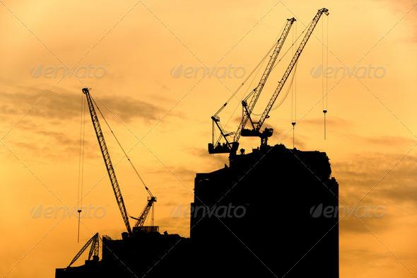 PhotoDune Crane silhouette 3732460