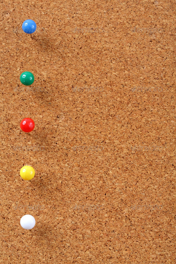 PhotoDune Cork board with pins 3732462