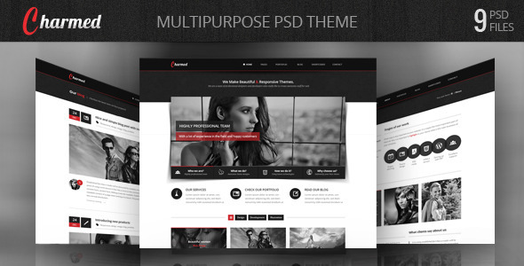 Charmed - Multipurpose PSD Theme - Portfolio Creative
