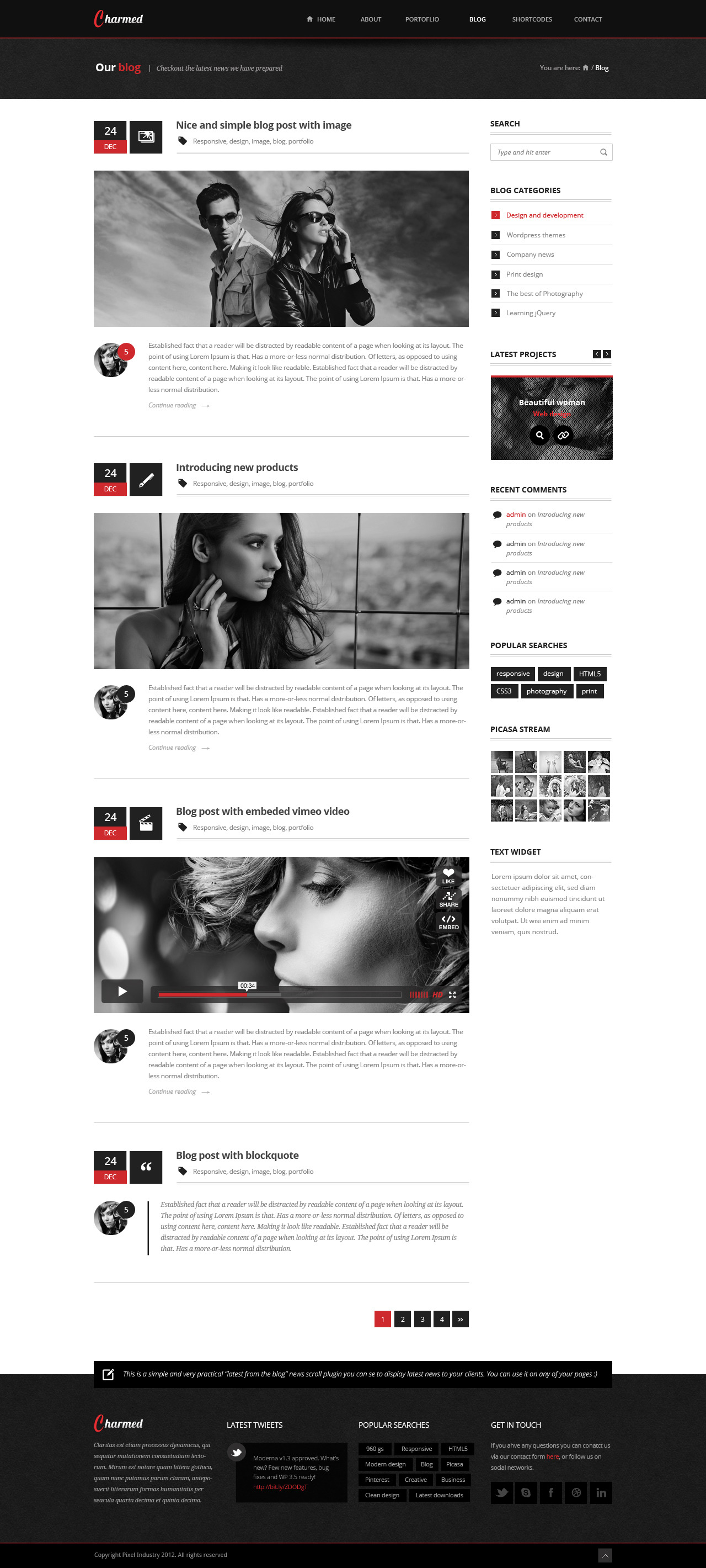 Charmed - Multipurpose PSD Theme