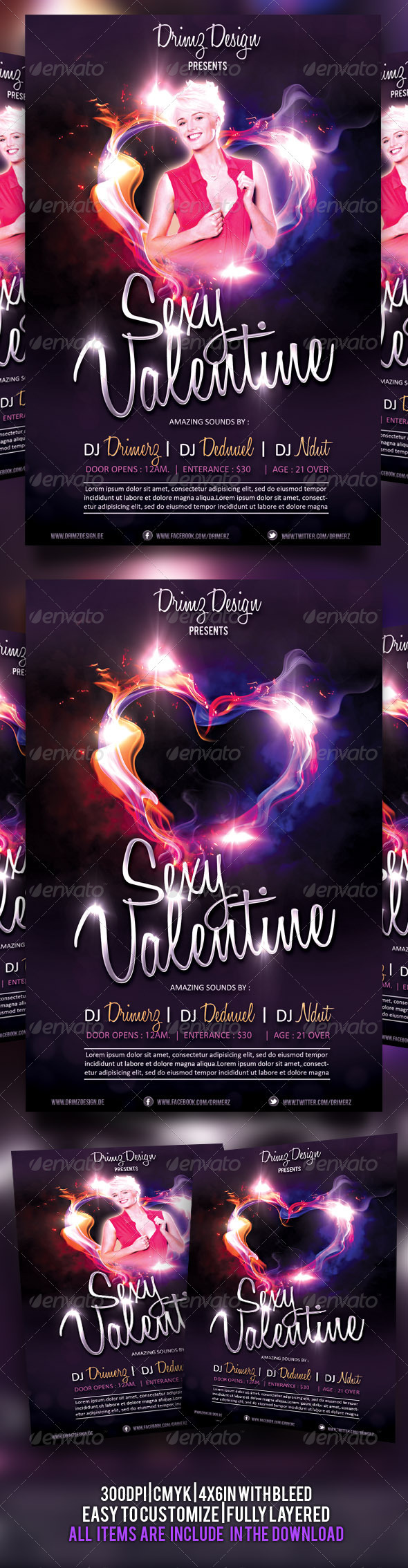 Sexy Valentine Flyer - Events Flyers