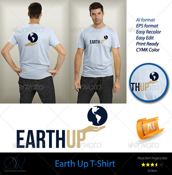GraphicRiver Earth Up T-Shirt 3736196