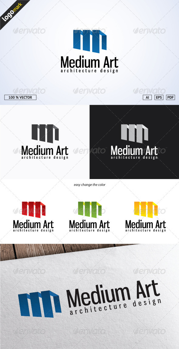 GraphicRiver Medium Art Logo 3689016