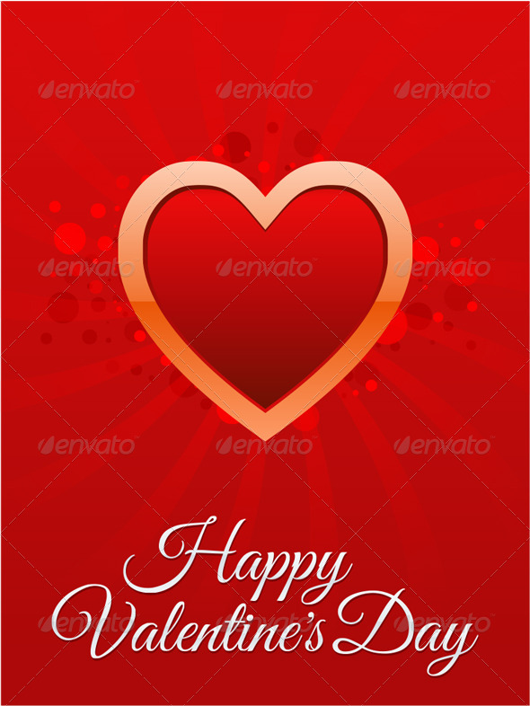 GraphicRiver Happy Valentine s Day card 3736596