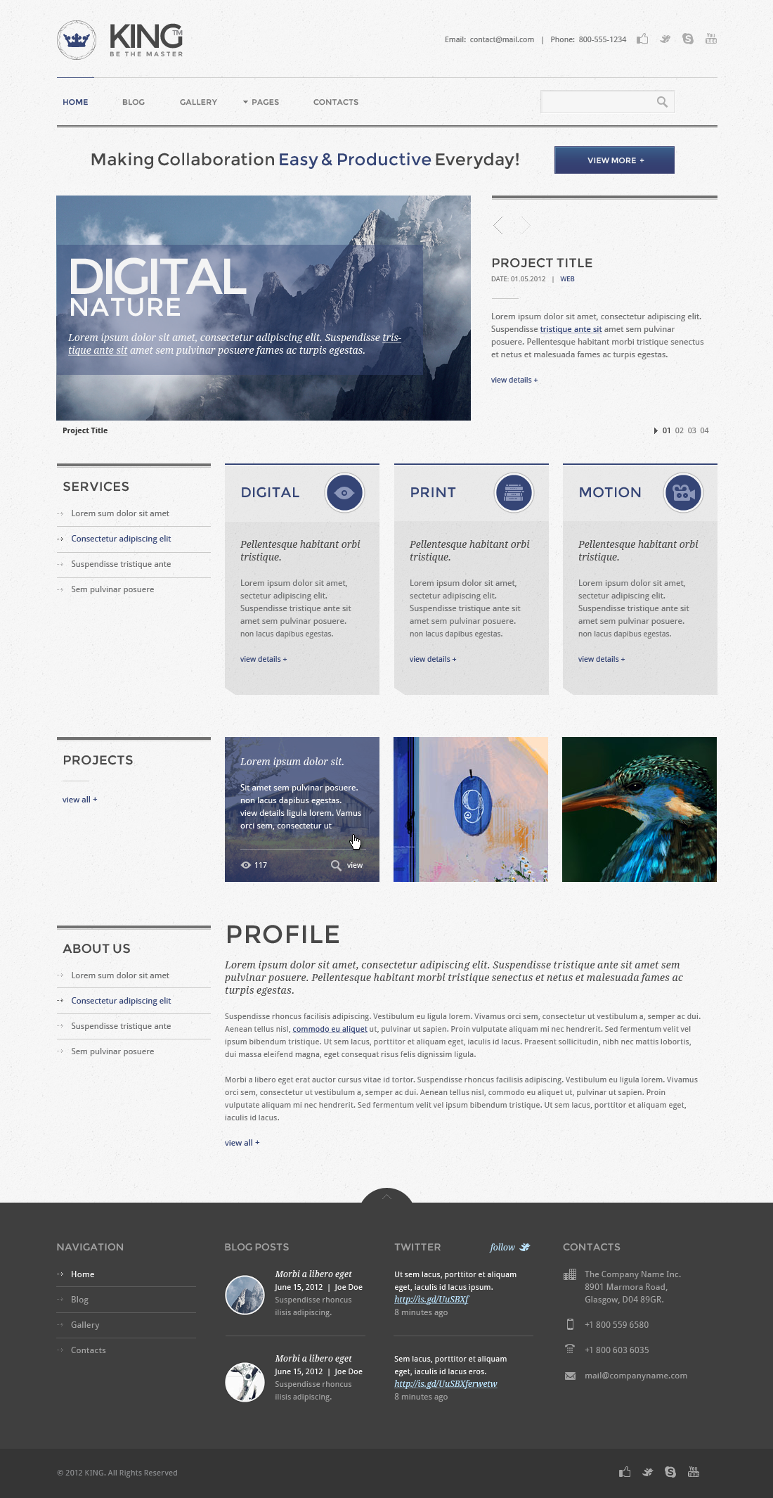 KING PSD Template