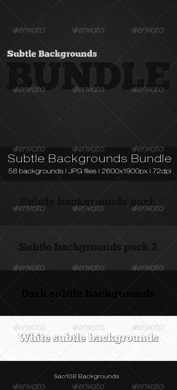 Subtle backgrounds bundle - Patterns Backgrounds