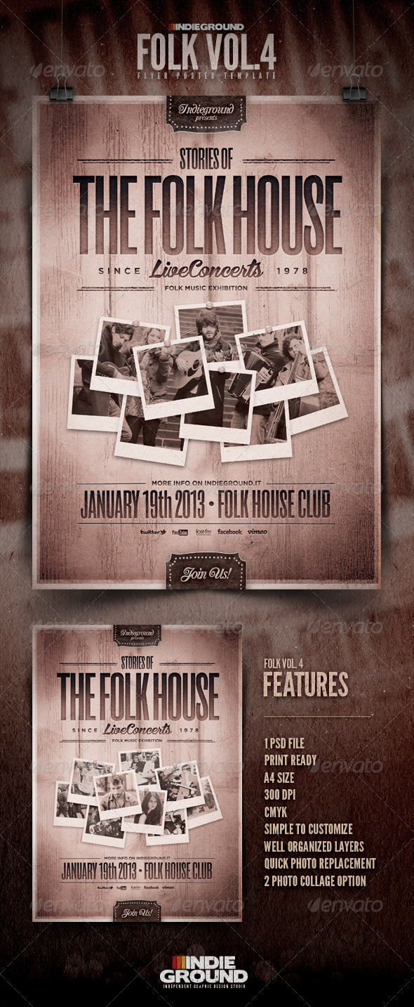 GraphicRiver Folk Flyer Poster Vol 4 3737513