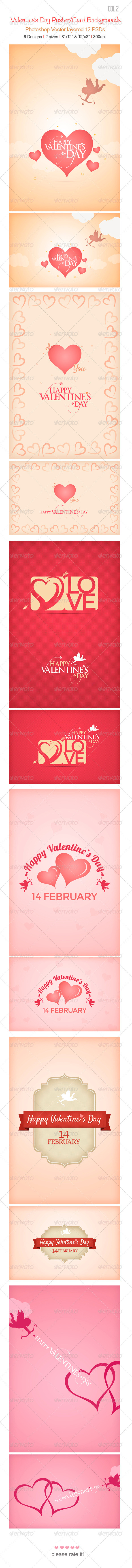 GraphicRiver Valentine s Day Backgrounds col 2 3716866